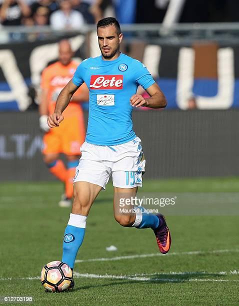 Nikola Maksimovic of Napoli during the Serie A match between Atalanta BC and SSC Napoli at Stadio Atleti Azzurri d'Italia on October 2 2016 in...