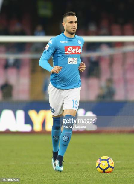 Nikola Maksimovic of Napoli during the serie A match between SSC Napoli and Hellas Verona FC at Stadio San Paolo on January 6 2018 in Naples Italy