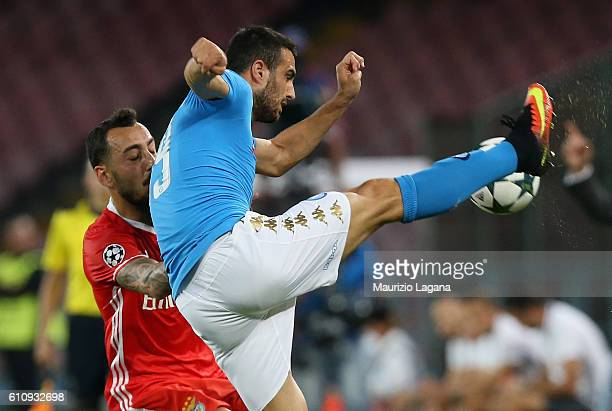 Nikola Maksimovic of Napoli during the UEFA Champions League match between SSC Napoli and Benfica at Stadio San Paolo on September 28 2016 in Naples...