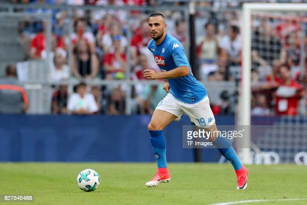Nikola Maksimovic of Neapel controls the ball during the Audi Cup 2017 match between SSC Napoli and FC Bayern Muenchen at Allianz Arena on August 2...