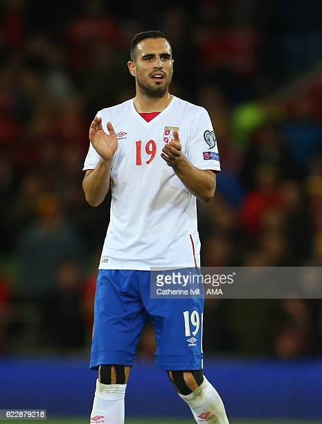Nikola Maksimovic of Serbia during the FIFA 2018 World Cup Qualifier between Wales and Serbia at Cardiff City Stadium on November 12 2016 in Cardiff...