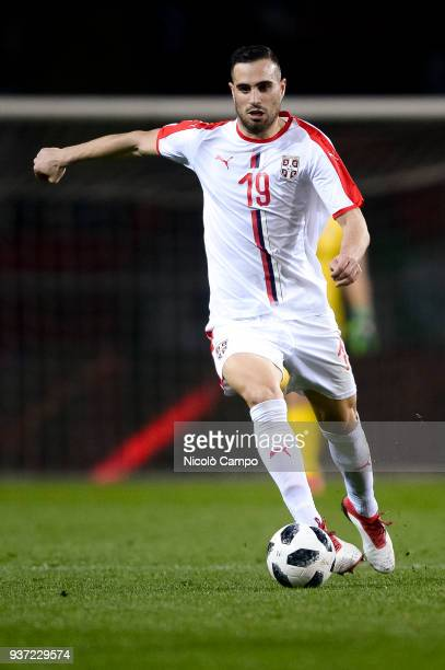 Nikola Maksimovic of Serbia in action during the International friendly football match between Morocco and Serbia Morocco won 21 over Serbia
