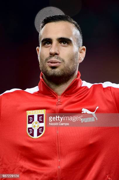 Nikola Maksimovic of Serbia looks on prior to the International friendly football match between Morocco and Serbia Morocco won 21 over Serbia