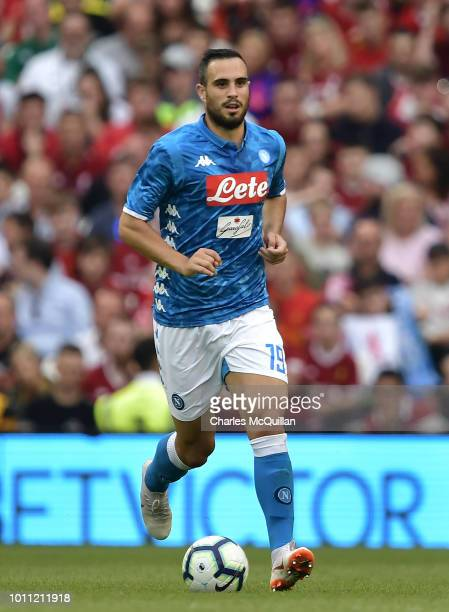 Nikola Maksimovic of SSC Napoli during the international friendly game between Liverpool and Napoli at Aviva Stadium on August 4 2018 in Dublin...