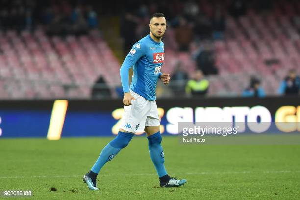 Nikola Maksimovic of SSC Napoli during the Serie A TIM match between SSC Napoli and Hellas Verona FC at Stadio San Paolo Naples Italy on 6 January...