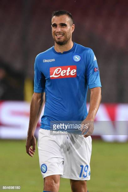 Nikola Maksimovic of SSC Napoli during the UEFA Champions League Final match between SSC Napoli and Feyenoord at Stadio San Paolo Naples Italy on 27...