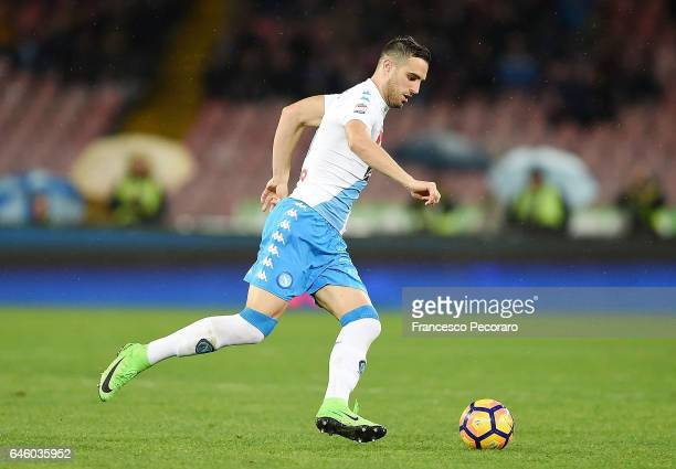 Nikola Maksimovic of SSC Napoli in action during the Serie A match between SSC Napoli and Atalanta BC at Stadio San Paolo on February 25 2017 in...