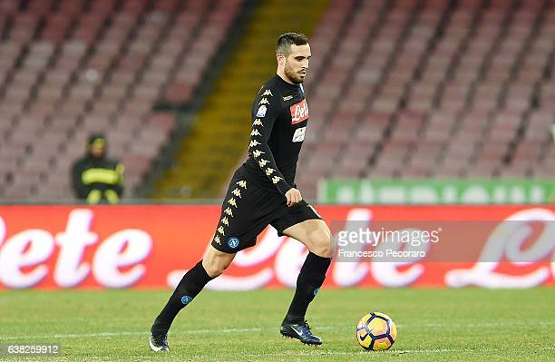 Nikola Maksimovic of SSC Napoli in action during the TIM Cup match between SSC Napoli and AC Spezia at Stadio San Paolo on January 10 2017 in Naples...