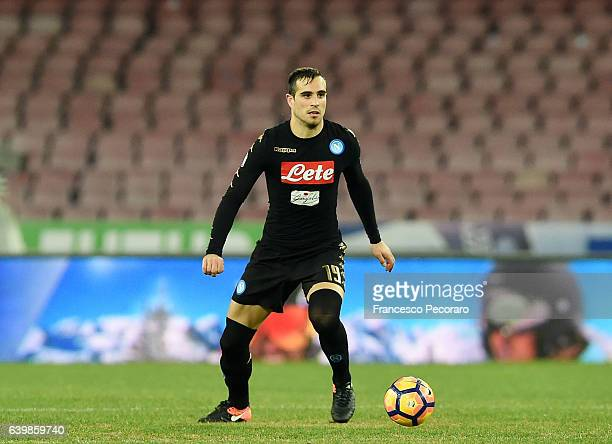 Nikola Maksimovic of SSC Napoli in action during the TIM Cup match between SSC Napoli and ACF Fiorentina at Stadio San Paolo on January 24 2017 in...
