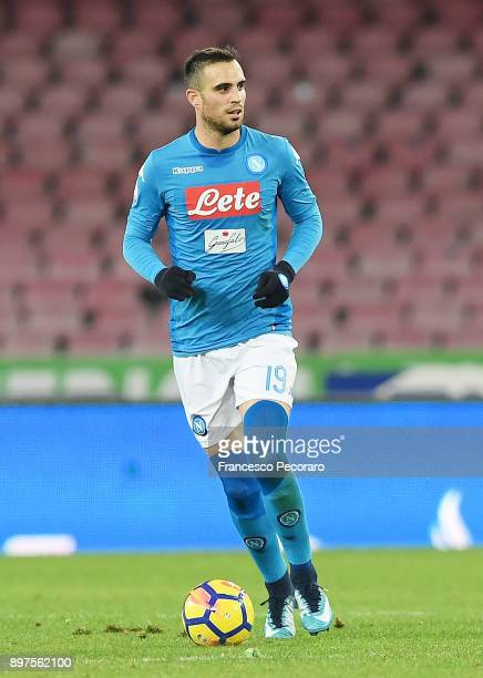 Nikola Maksimovic of SSC Napoli in action during the TIM Cup match between SSC Napoli and Udinese Calcio at Stadio San Paolo on December 19 2017 in...