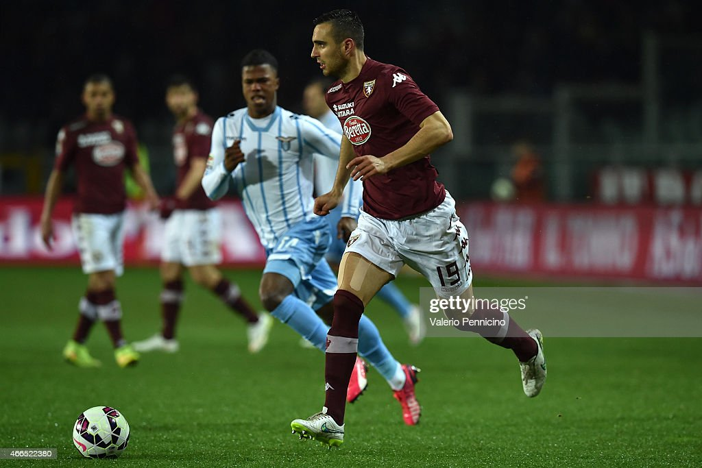 Nikola Maksimovic of Torino FC in action during the Serie A match between Torino FC and SS Lazio at Stadio Olimpico di Torino on March 16, 2015 in Turin, Italy.