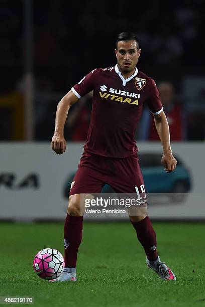 Nikola Maksimovic of Torino FC in action during the Serie A match between Torino FC and ACF Fiorentina at Stadio Olimpico di Torino on August 30 2015...