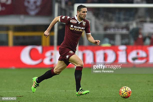 Nikola Maksimovic of Torino FC in action during the Serie A match between Torino FC and AC Chievo Verona at Stadio Olimpico di Torino on February 7...