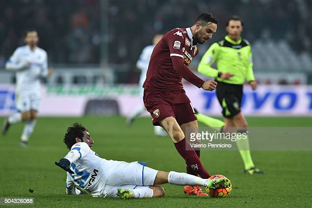Nikola Maksimovic of Torino FC is challenged by Daniele Croce of Empoli FC during the Serie A match between Torino FC and Empoli FC at Stadio...