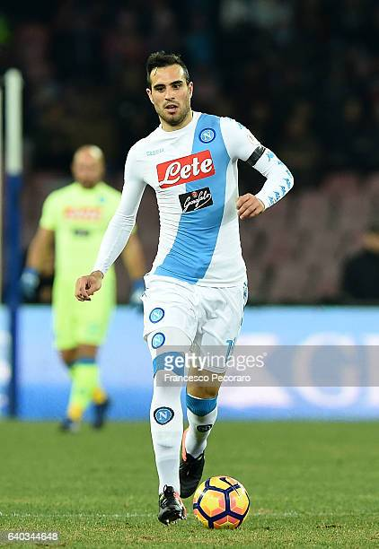 Nikola Maskimovic of SSC Napoli in action during the Serie A match between SSC Napoli and US Citta di Palermo at Stadio San Paolo on January 29 2017...