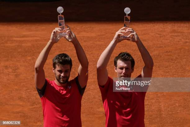 Nikola Mektic and Alexander Peya they win the final of men's doubles day nine of the Mutua Madrid Open tennis tournament at the Caja Magica on May 13...