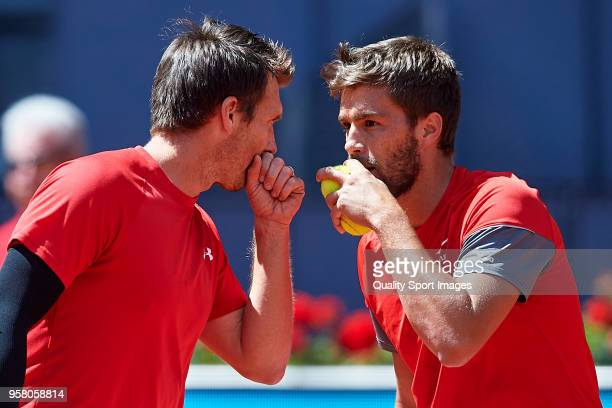 Nikola Mektic of Croatia and Alexander Peya of Austria during his match against Bob Bryan of the United States and Mike Bryan of the United States...