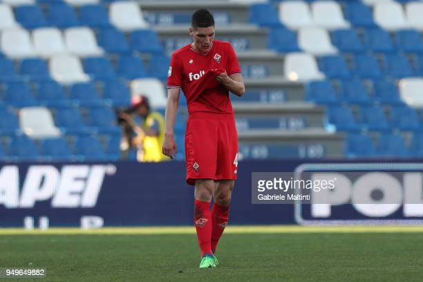Nikola Milankovic of ACF Fiorentina shows his dejection during the serie A match between US Sassuolo and ACF Fiorentina at Mapei Stadium Citta' del...