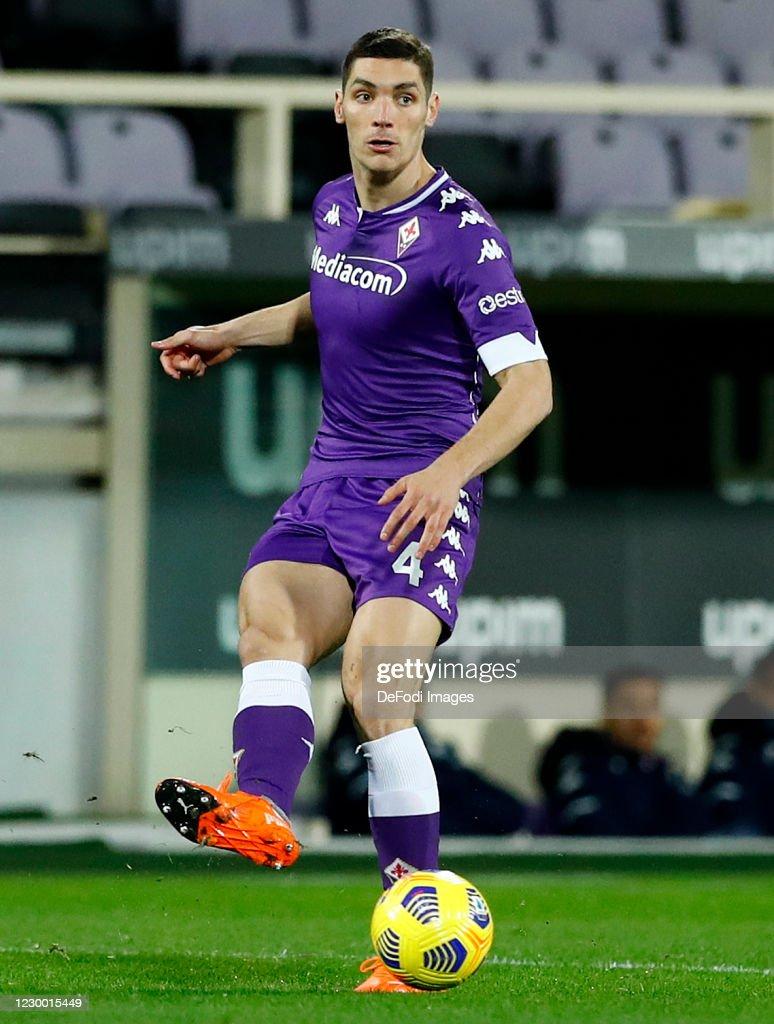 Nikola Milenkovic of ACF Fiorentina controls the ball during the ...