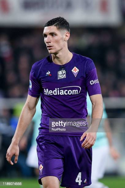 Nikola Milenkovic of ACF Fiorentina during the Serie A match between ACF Fiorentina and FC Internazionale at Stadio Artemio Franchi Florence Italy on...