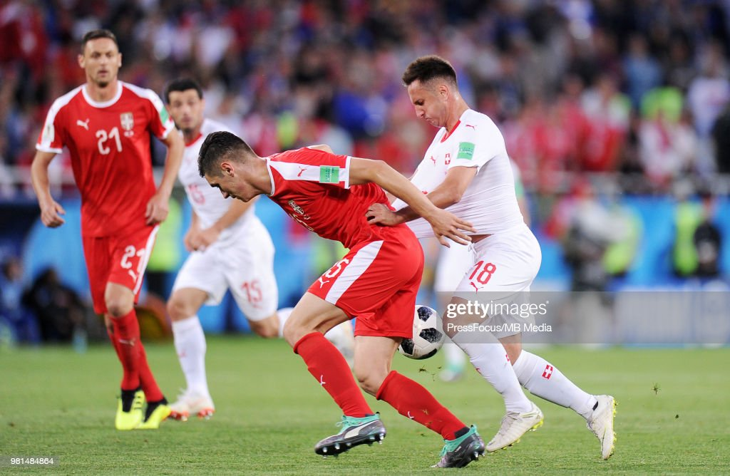 Serbia v Switzerland: Group E - 2018 FIFA World Cup Russia : ニュース写真