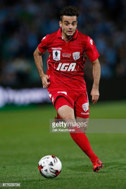 Nikola Mileusnic of Adelaide controls the ball during the FFA Cup Final match between Sydney FC and Adelaide United at Allianz Stadium on November 21...