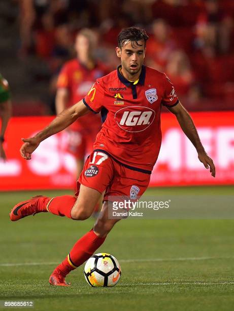 Nikola Mileusnic of United controls the ball during the round 12 ALeague match between Adelaide United and the Central Coast Mariners at Coopers...