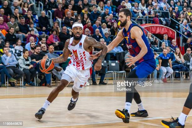 Nikola Mirotic and Lorenzo Brown during the match between FC Barcelona and Red Star Basketball Club, corresponding to the week 21 of the Euroleague,...