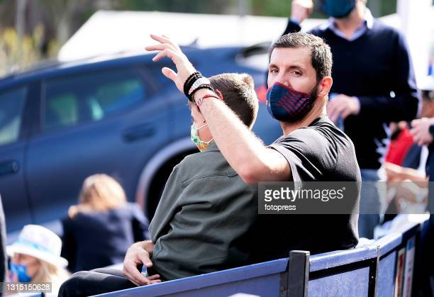 Nikola Mirotic attends to the ATP Barcelona Open Banc Sabadell 2021 at Real Club De Tenis Barcelona on April 25, 2021 in Barcelona, Spain.