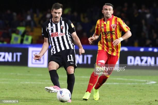 Nikola Ninkovic Gaetano Letizia during the Italian Serie A football match between Benevento Calcio v Ascoli Picchio FC at stadium Ciro Vigorito in...