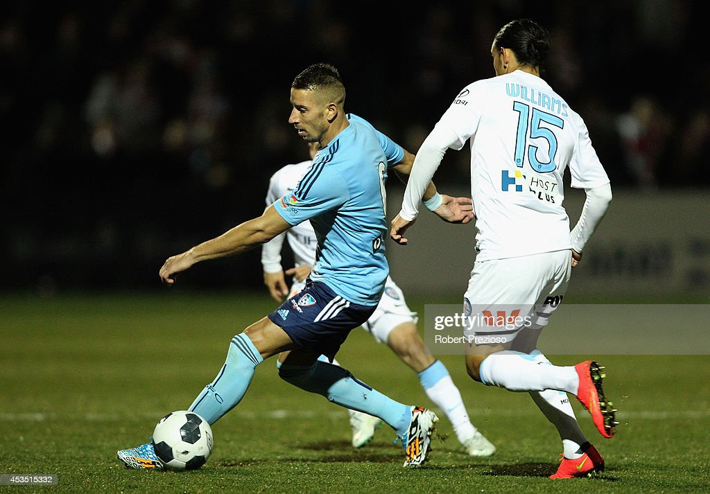 Nikola Petkovic of Sydney controls the ball during the FFA Cup match between Melbourne City and Sydney FC at Morshead Park Stadium on August 12, 2014 in Ballarat, Australia.