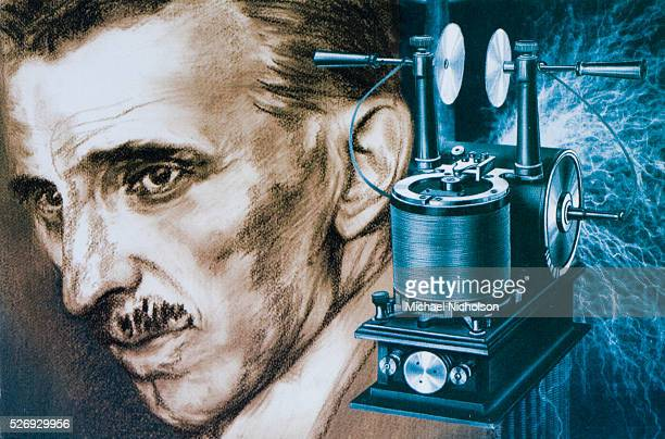 Nikola Tesla shown with an early tesla coil generating a strong electric field Tesla is known for his revolutionary contribution to the field of...