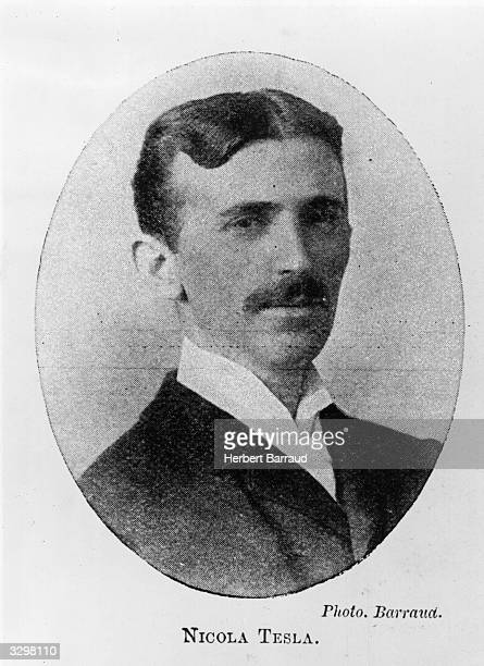 Nikola Tesla the SerbianAmerican inventor physicist and electrical engineer Original Publication Illustrated London News pub 8th September 1900