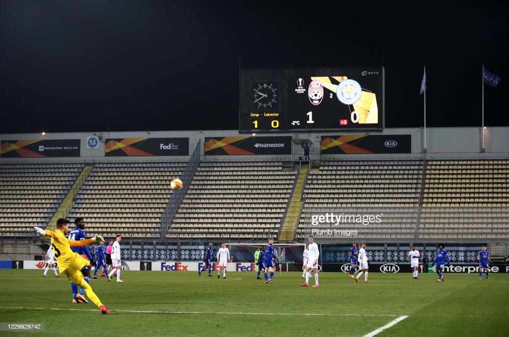 Zorya Luhansk v Leicester City: Group G - UEFA Europa League : News Photo