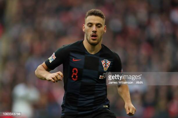 Nikola Vlasic of Croatia during the UEFA Nations League A group four match between England and Croatia at Wembley Stadium on November 18, 2018 in...
