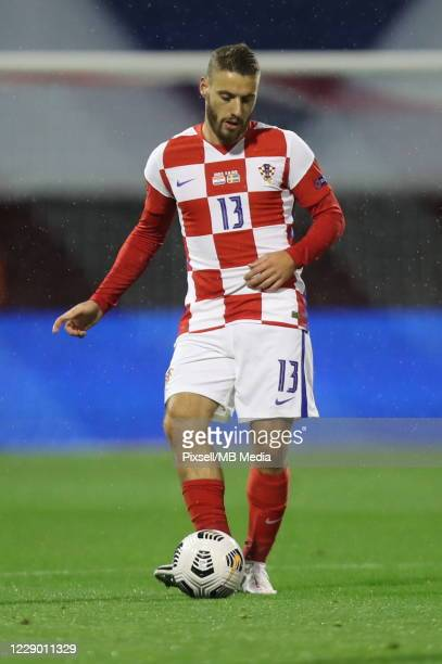 Nikola Vlasic of Croatia during the UEFA Nations League group stage match between Croatia and Sweden at Stadion Maksimir on October 11, 2020 in...