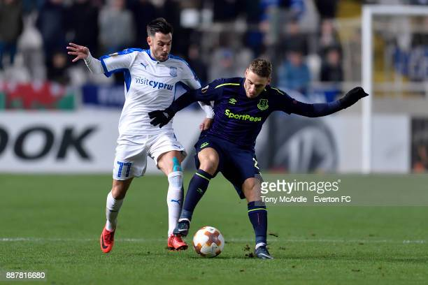 Nikola Vlasic of Everton challenges for the ball during the UEFA Europa League Group E match between Apollon Limassol and Everton at GSP Stadium on...
