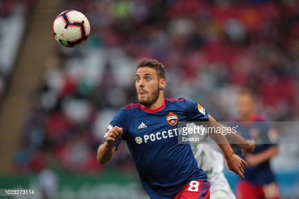 Nikola Vlasic of PFC CSKA Moscow vie for the ball during the Russian Football League match between FC Rubin Kazan and PFC CSKA Moscow on August 25...