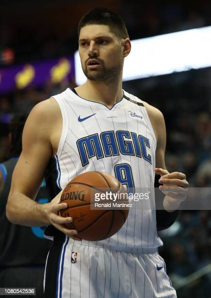 Nikola Vucevic of the Orlando Magic at American Airlines Center on December 10 2018 in Dallas Texas NOTE TO USER User expressly acknowledges and...