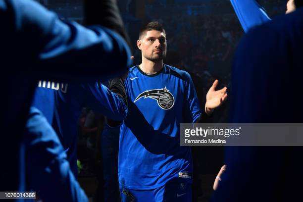 Nikola Vucevic of the Orlando Magic makes his entrance before the game against the Detroit Pistons on December 30 2018 at Amway Center in Orlando...