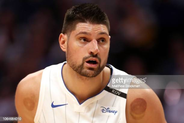 Nikola Vucevic of the Orlando Magic plays the Denver Nuggets at the Pepsi Center on November 23 2018 in Denver Colorado NOTE TO USER User expressly...