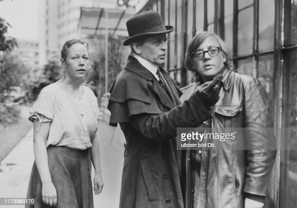Nikola Weisee Klaus Kinski Jesus Franco shooting to film Jack the Ripper 1976