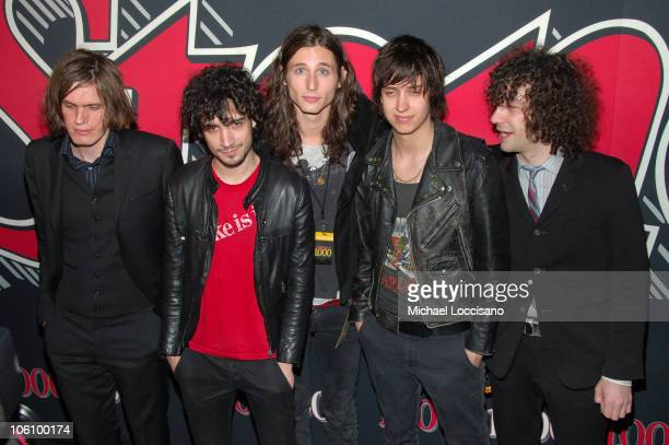 Nikolai Fraiture Fabrizio Moretti Nick Valensi Julian Casablancas and Albert Hammond Jr of The Strokes