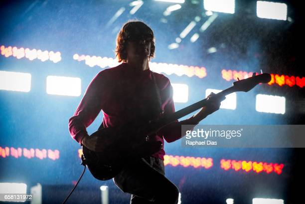 Nikolai Fraiture from The Strokes performs at Lollapalooza Brazil day 2 at Autodromo de Interlagos on March 26 2017 in Sao Paulo Brazil Nikolai...