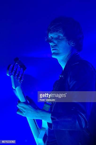 Nikolai Fraiture of Summer Moon peforms at The Satellite on September 16 2016 in Los Angeles California