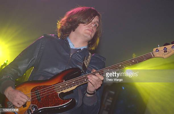 Nikolai Fraiture of The Strokes during The Strokes Perform at the Roseland Ballroom Presented by KRock at Roseland Ballroom in New York City New York...