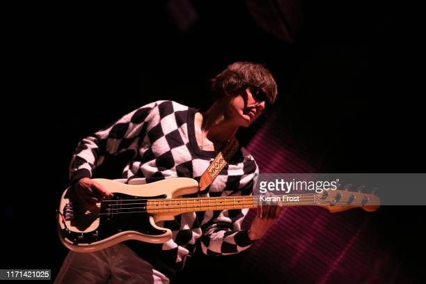 Nikolai Fraiture of The Strokes performs on stage during Electric Picnic Music Festival 2019 at Stradbally Hall Estate on August 31, 2019 in...