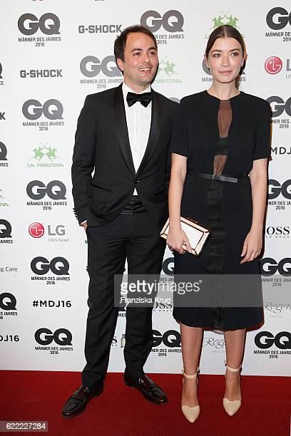 Nikolai Kinsk and Anna Bederke arrive at the GQ Men of the year Award 2016 at Komische Oper on November 10 2016 in Berlin Germany