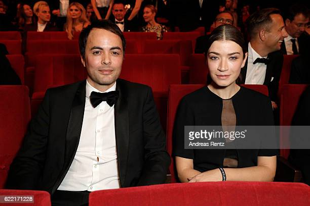 Nikolai Kinski and Anna Bederke are seen at the GQ Men of the year Award 2016 show at Komische Oper on November 10 2016 in Berlin Germany