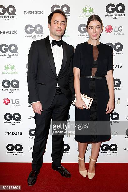 Nikolai Kinski and Anna Bederke arrive at the GQ Men of the year Award 2016 at Komische Oper on November 10 2016 in Berlin Germany